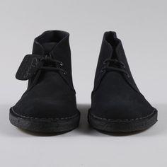 Clarks Originals Clarks Desert Boot - Black Suede | Shoe porn.