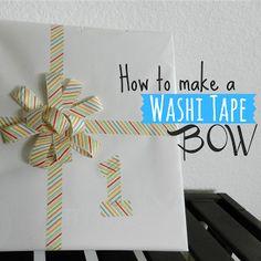 Washi Tape Bow #PickYourPlum #washitape