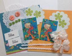 Sweet spring card crafting ephemera kit by Nettiesetsy on Etsy