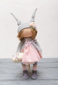 Susie Doll-Handmade Doll-Textile Doll-Fabric Doll-Rag Doll-Home Decoration-Handmade Toy-Interior Doll-Christmas Gift-Christmas Present-Dolls