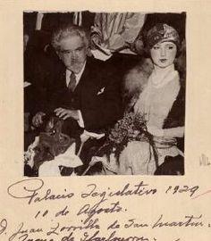 Juana de Ibarbourou junto a Juan Zorrilla de San Martín en 1929