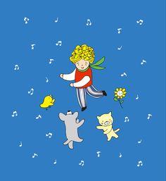 絵とおはなし「ダンス♫ダンス♫」 そうそう! そんな感じでダンス♫ダンス♫ 知ってるかい? 世界は隅々までダンスでできているってこと♡ Snoopy, Fictional Characters, Fantasy Characters