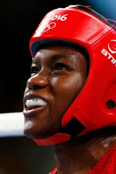 Nicola Adams of Great Britain sits in her corner between rounds during the Women's Fly (48-51kg) Final Bout against Sarah Ourahmoune of France on Day 15 of the Rio 2016 Olympic Games at Riocentro - Pavilion 6 on August 20, 2016 in Rio de Janeiro, Brazil.