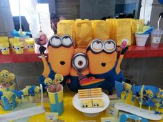 Love all the Minions at this Despicable Me party!   See more party ideas at CatchMyParty.com!