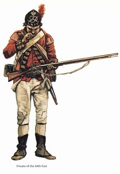 AWI British: Grenadier Private, 64th Foot, (artist unknown). Help eliminate poor pinning! If you know the artist and can supply a link, please update this pin. Thank you!