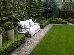 allées de jardin, extérieur vert, murs végétaux