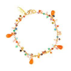 Rainbow Carnelian Rosary Bracelet by Wendy Mink Jewelry