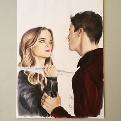 Danielle Panabaker as Caitlin Snow aka Killer Frost, and Grant Gustin as Barry Allen , Flash, the cw, dc comics Artworks inspired by the TV Show, FLASH Made with graphite, coloured pencils, pastels, markers, watercolor.