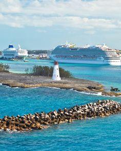 Cruise port in Nassau, Bahamas