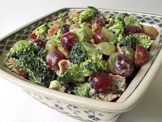 Broccoli Grape Salad...Thank you @ Point-less Meals!
