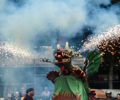 """The most important festival in Barcelona on the month of June is the eve of San Juan, eating the typical """"Coca"""" (pastry). Also known as la Nit de les Bruixes (Night of Witches) or la Nit del Foc (Night of Fire) is a popular celebration that evokes ancient festivals that honoured the sun #Europe #Spain #Barcelona #Catalonia #sanjuan #night #fire #celebration #tradition #photography #imoutoftheoffice #travel #world"""