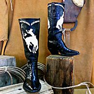 Paul Bond Boot Co.  custom handmade Boot of the Month May 2013 alligator with white leather inlay.