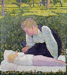 cuno amiet | Tumblr  Mother and Child in the Garden, 1906  Cuno Amiet