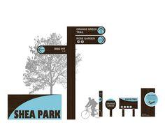 Toronto Parks & Trails WayFinding on Behance Signage Design, Brochure Design, Name Plate Design, Park Signage, Wayfinding Signs, Sign System, Park Trails, 3d Street Art, Sign Display