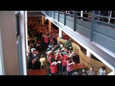 Check it out! A flash mob at Uppsala university in Uppsala, Sweden. Love students! <3