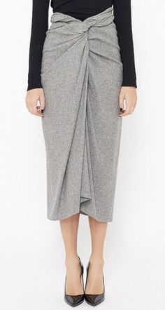 Dries Van Noten Light Grey Skirt