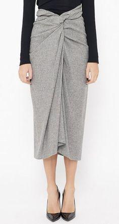 Dries Van Noten Light Grey Skirt