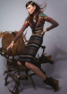 Irina Kulikova, Burberry Prorsum, Fred Meylan, Harper's Bazaar, Korea, Christopher Bailey, Burberry, Wedges, Shoes, Fashion, Editorial,