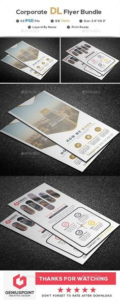 Buy Corporate DL Flyer Bundle by GeniusPoint on GraphicRiver. Features: Easy Customizable and Editable Print size: inches Final size: inches CMYK Color Design in. B Names, Print Design, Graphic Design, Simple Business Cards, Portfolio Layout, Corporate Flyer, Print Templates, Flyer Template, Flyer Design