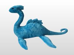 Turquoise Plush Loch Ness Monster / Sea Dragon / Plesiosaur / Nessie with Gemstone Eyes by CuddlesGalore on Etsy https://www.etsy.com/listing/217529264/turquoise-plush-loch-ness-monster-sea