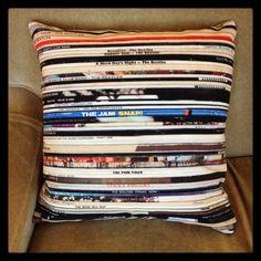 Pillow Cover The Beatles Bob Dylan Rolling Stones Led Zeppelin Vinyl Record 45  #AlternativeIndieBritishInvasionFolkCountryRockSingerSongwriterSoftRock
