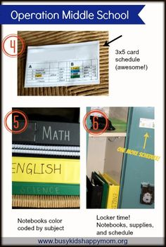 How to Get Organized for Junior High, Tips 4-5