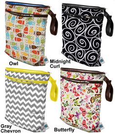 Planet Wise Medium Reusable Wet & Dry Cloth Diaper Bag Travel Swimming - 868802