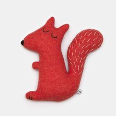Stanley the Squirrel Lambswool Plush Toy - Made to order by saracarr on Etsy www.etsy.com/... - Tap The Link Now Find that Perfect Gift