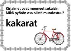 Pyöräilypelit ja pähkinät – Erilaisia sanapelejä ja Pyöränbongausbingo