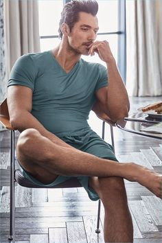 Showcasing leisure shorts and a v-neck, David Gandy appears in an image from his new Autograph campaign for Marks & Spencer.