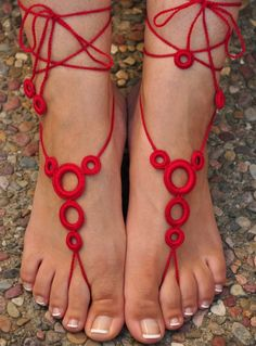 Hot Fashion Women Knit Hand-made Crochet Soft Adjustable Anklets Beautiful Toes, Pretty Toes, Beach Wedding Shoes, Crochet Barefoot Sandals, Ankle Jewelry, Barefoot Girls, Sexy Toes, Bare Foot Sandals, Anklets