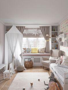 Childrens Room Decor, Baby Room Decor, Bedroom Decor, Kids Bedroom Designs, Baby Room Design, Girl Room, Girls Bedroom, House Beds For Kids, Kids Room Wallpaper