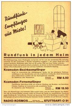 Original-Werbung/Inserat/ Anzeige 1933 - 1/1-SEITE KOSMODYN RADIO - ca. 220 x 150 mm