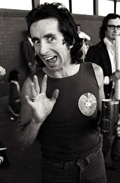 Bon Scott - AC/DC Among the all-time greatest frontmen, and gone far too soon.
