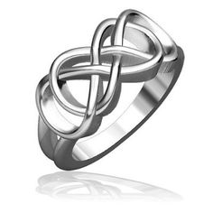 Double infinity - (possibly making hearts with the outer loops?) - (wedding band tattoo idea)