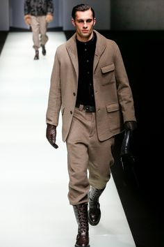 Giorgio Armani Fall 2018 Menswear Fashion Show Collection