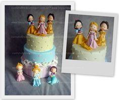 Bolo Princesas by Biscuit da Pati, via Flickr