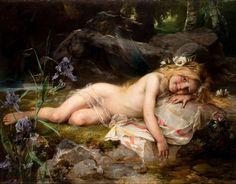 Paul Hermann Wagner, Forest Nymph Date 1870. US Public Domain via Wikimedia