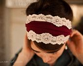 Delicate lattice headband in lace - garlands of grace Something special headband 2012.