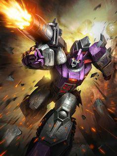 Decepticon Leader Galvatron Artwork From Transformers Legends Game