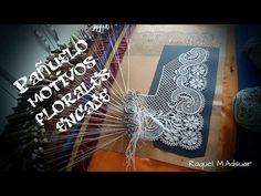 Pañuelo de encaje de bolillos con motivos florales - YouTube
