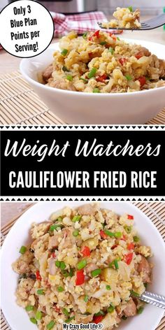 This Cauliflower Fried Recipe is an easy and delicious weeknight meal! Cauliflower Chicken Fried Rice is low carb and keto, healthy and so easy to adapt for your preferences! Side Dish Recipes, Pasta Recipes, Cooking Recipes, Healthy Recipes, Healthy Foods, Cauliflower Fried Rice, Delicious Dinner Recipes, Pressure Cooker Recipes, Weight Watchers Meals