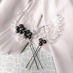 Aria Pearl Hairpins – Alexandra Bespoke Pearl Hair Pins, Circlet, Hair Pieces, Bespoke, Silver Plate, Swarovski Crystals, Plating, Pearls, Boho