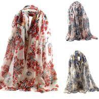 Women's Fashion Scarf Luxury Brand Long Scarf Shawl Silk S-VarietyStore