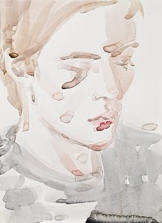 Elizabeth Peyton. Klara (Klara Liden) Berlin, 2009. Watercolor on paper.