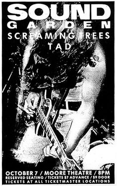 Soundgarden - Screaming Trees - TAD