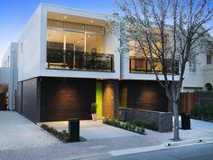 Townhouse Designs, Duplex House Design, Duplex House Plans, Modern House Design, House Cladding, Facade House, Interior Exterior, Exterior Design, Habitat Groupé