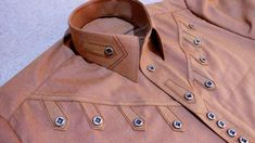 Brown Kurta Design- How To Make Gents Kurta Design 2018 Step By Step At Home Kingsman Tailor my whatsapp no next video for subsacribe my channe. Mens Designer Shirts, Designer Suits For Men, Designer Clothes For Men, Gents Kurta Design, Boys Kurta Design, African Wear Styles For Men, African Shirts For Men, Kids Blouse Designs, Kurta Designs