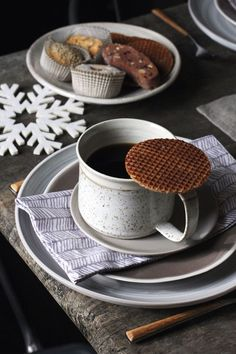 Stroop waffles and coffee
