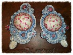 roses among clouds - soutache earrings Arona Haryo by E.M.M  aronacouture@gmail.com